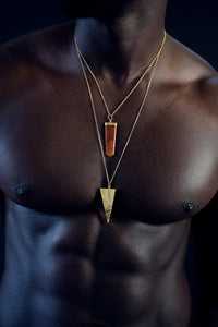 Men's Adventurine Pendant Necklace