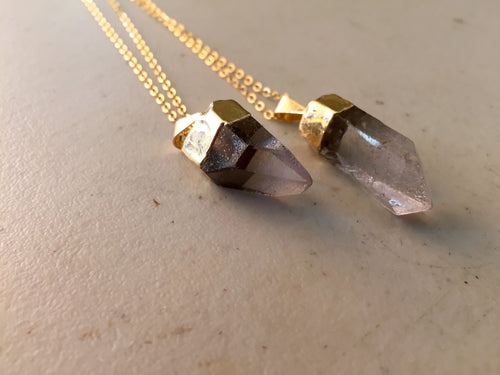 Single Crystal Quartz Necklace