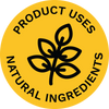 Product uses natural ingredients