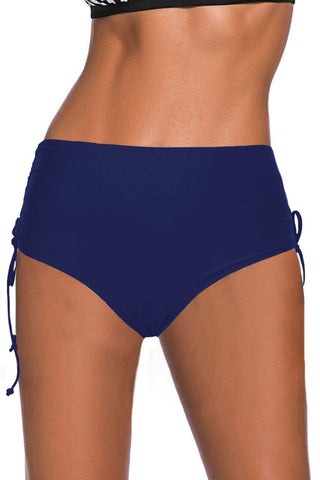 Drawstring Ruched Sides High Waist Swim Panty