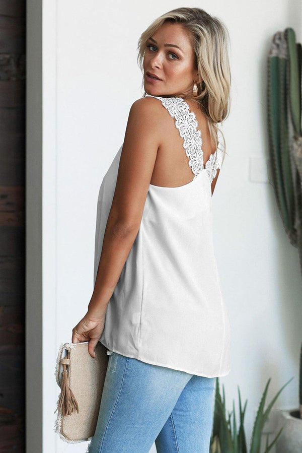 Like An Angel Lace Cami Tank