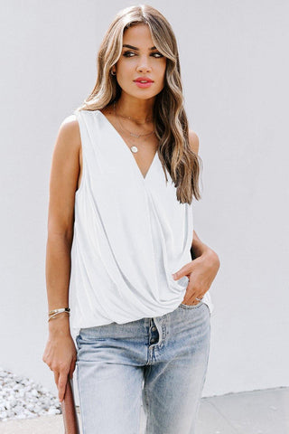Surplice V Neck Tank