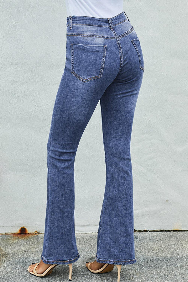 Light Blue Wash Vintage Wide Leg Jeans