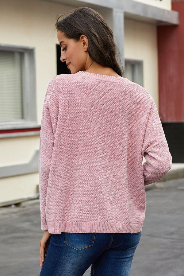 Swoon And Snuggles Chenille Shift Sweater - L & M Kee, LLC