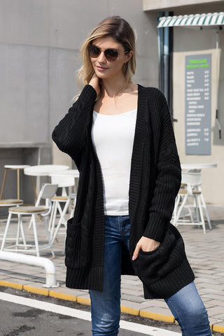 Knit Texture Long Cardigan