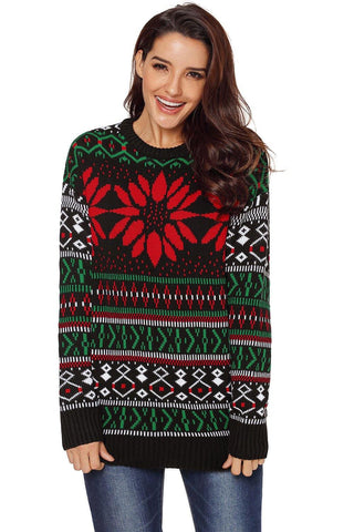 Chrismas Fashion Sweater with Christmas Trees - L & M Kee, LLC