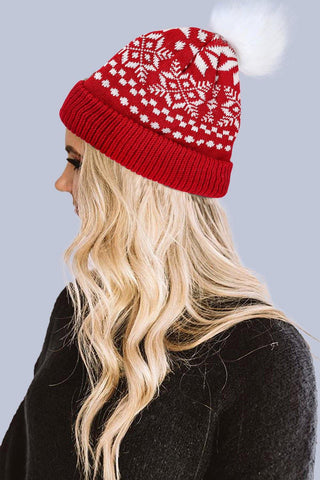 Christmas Printed Knit Beanie