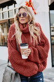 Cuddle Weather Cable Knit Handmade Turtleneck Sweater