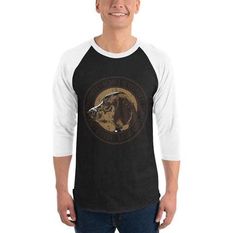 Beagle 3/4 sleeve raglan shirt