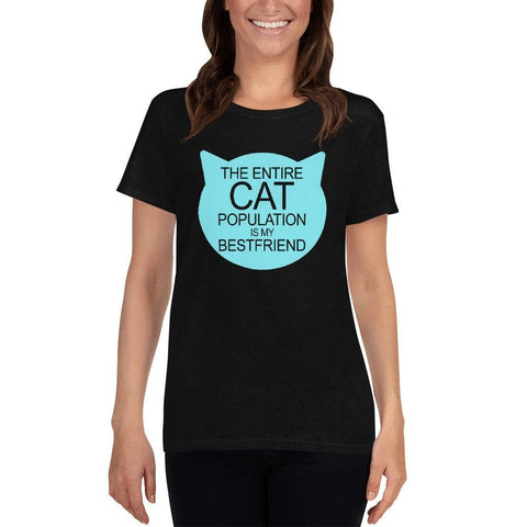 Cat Population Friend Women's short sleeve t-shirt