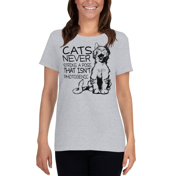 Cats Never Pose Women's short sleeve t-shirt