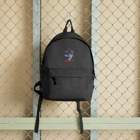 Lone Wolf Embroidered Backpack