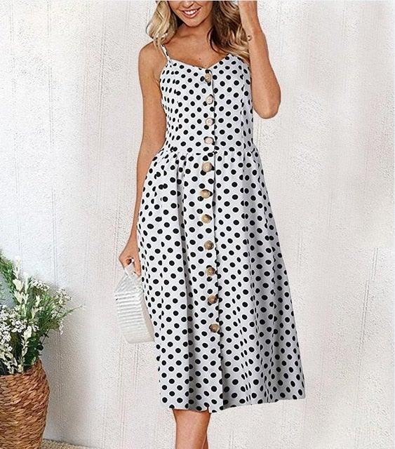 Casual Vintage Sundress Women Summer Dress 2020