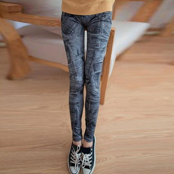 Skinny Fashion Stretch Colored Denim Leggings