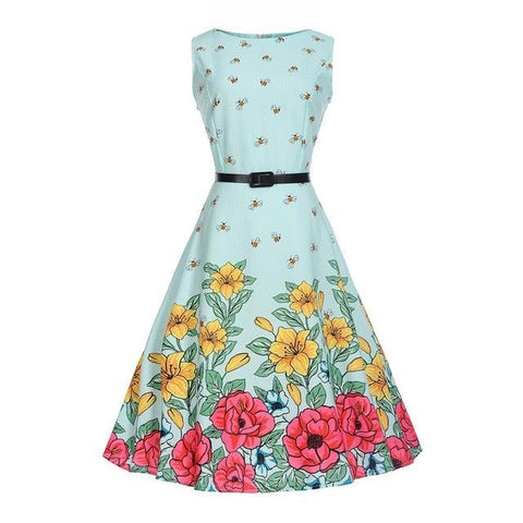 Flora Colorful Print Tween / Teens Girls Dresses