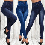 Mjartoria Fashion Jean Elastic Waist Leggings