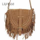 LilyHood 2018 Fringed Faux Suede Cross-body Bag