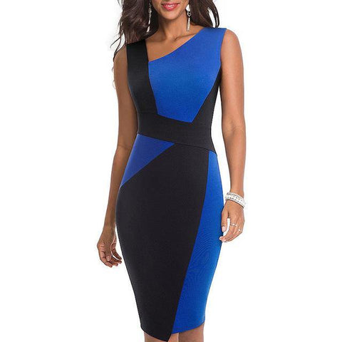 Asymmetrical Pencil Dress