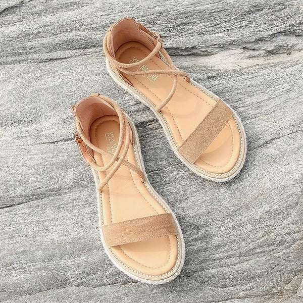 Magirst Women Faux Suede Sandals