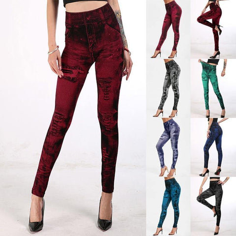 Stretchable Tight Denim High Waist Leggings