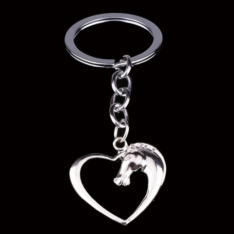 New Swift Horse Silver Plated Heart Key Chains