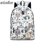 Waterproof Cat Printing Backpack