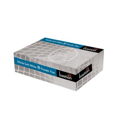 Nitrile Soft White Gloves - Powder Free - Finger Micro Textured