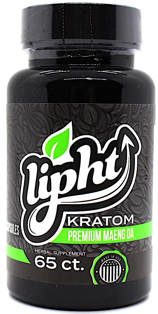 Lipht Kratom  Premium 65 ct Bottle (((SELECT PIC FOR MORE)))