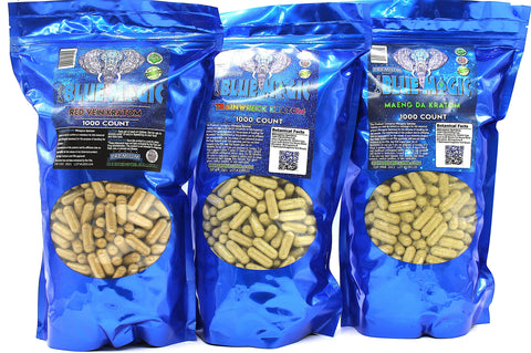 Blue Magic Kratom 1000ct Capsules
