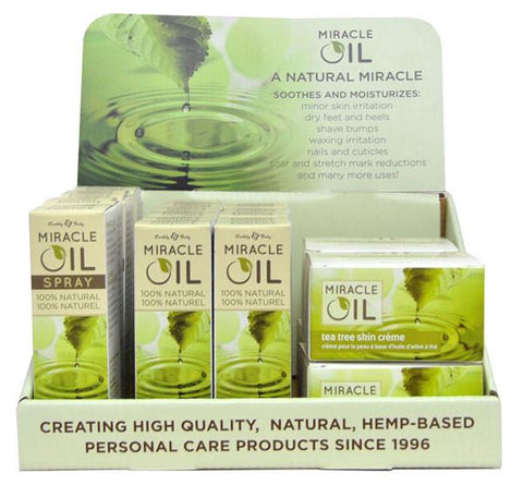 Earthly Body Miracle Oil Variety Display