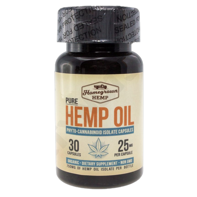 Homegrown Hemp Oil Full Spectrum Extract  Capsule 750mg cbd