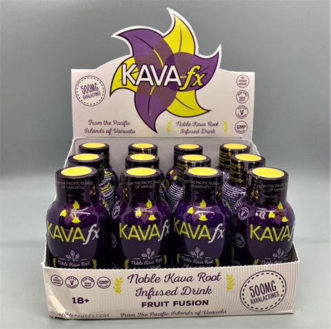 Kava FX Fruit Fusion Liquid Shot 2oz 12CT Case