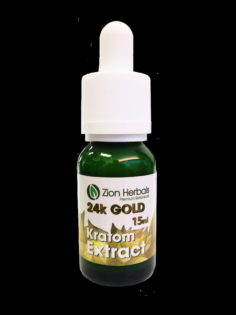 Zion Herbals  24k gold liquid kratom extract  15ml