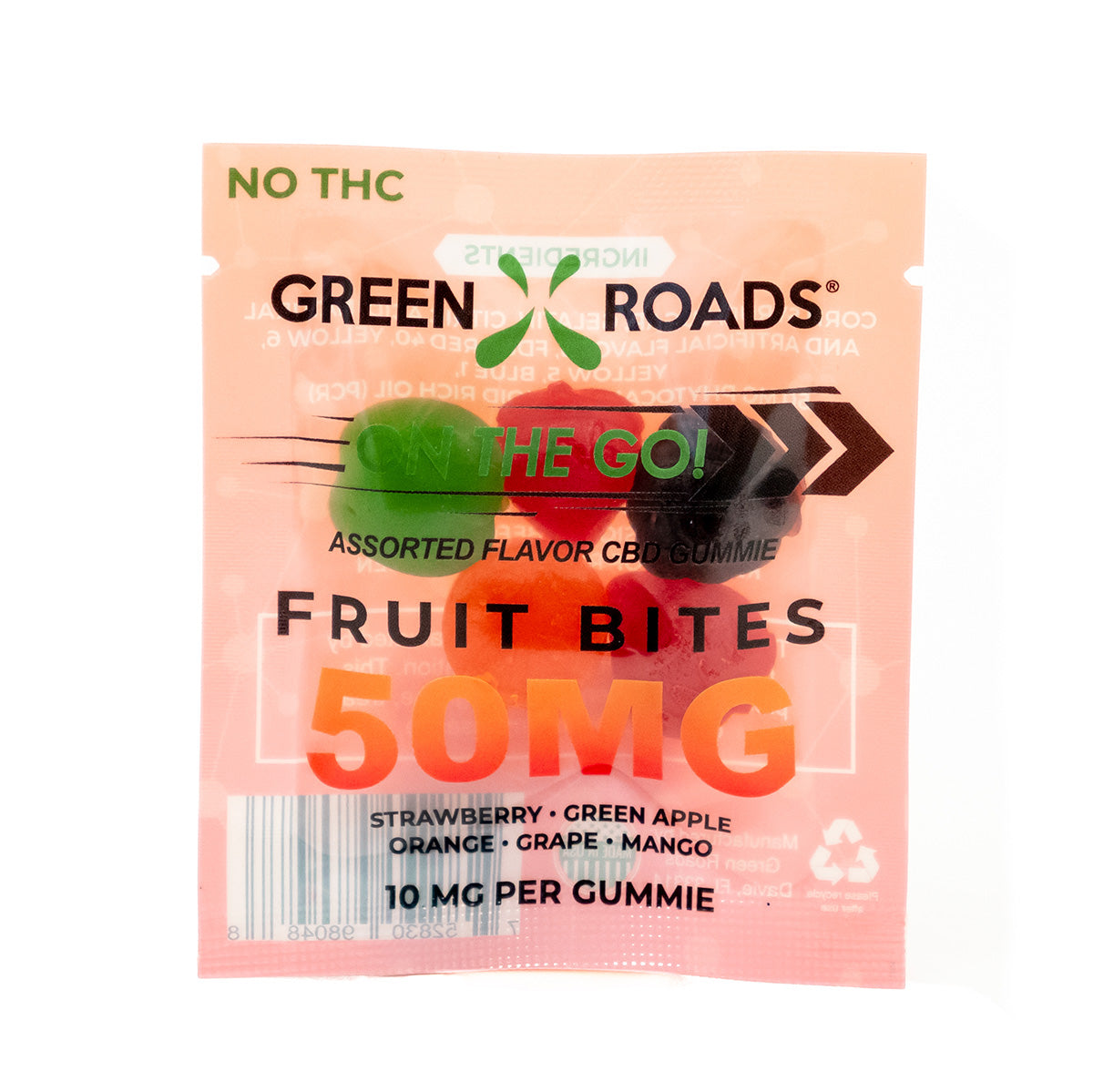 Green Roads Fruit Bites 50mg  On The Go