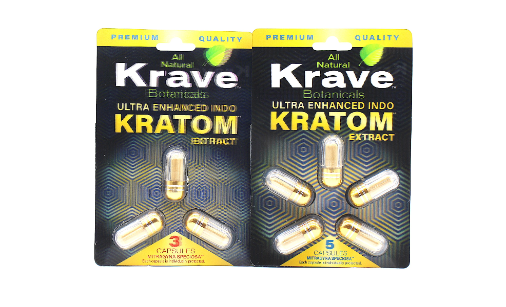 Krave Botanicals -  Premium Quality Ultra Enhanced Indo Kratom Extract Capsules