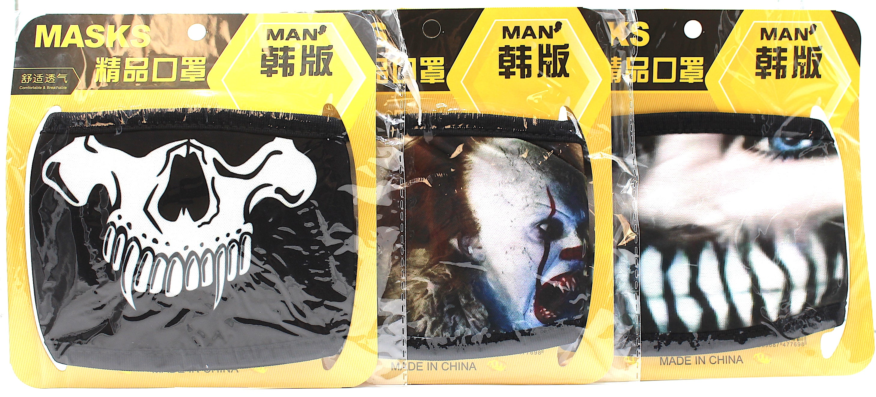 MASKS CLOTH MATERIAL Characters  Designed 3 mask per pack