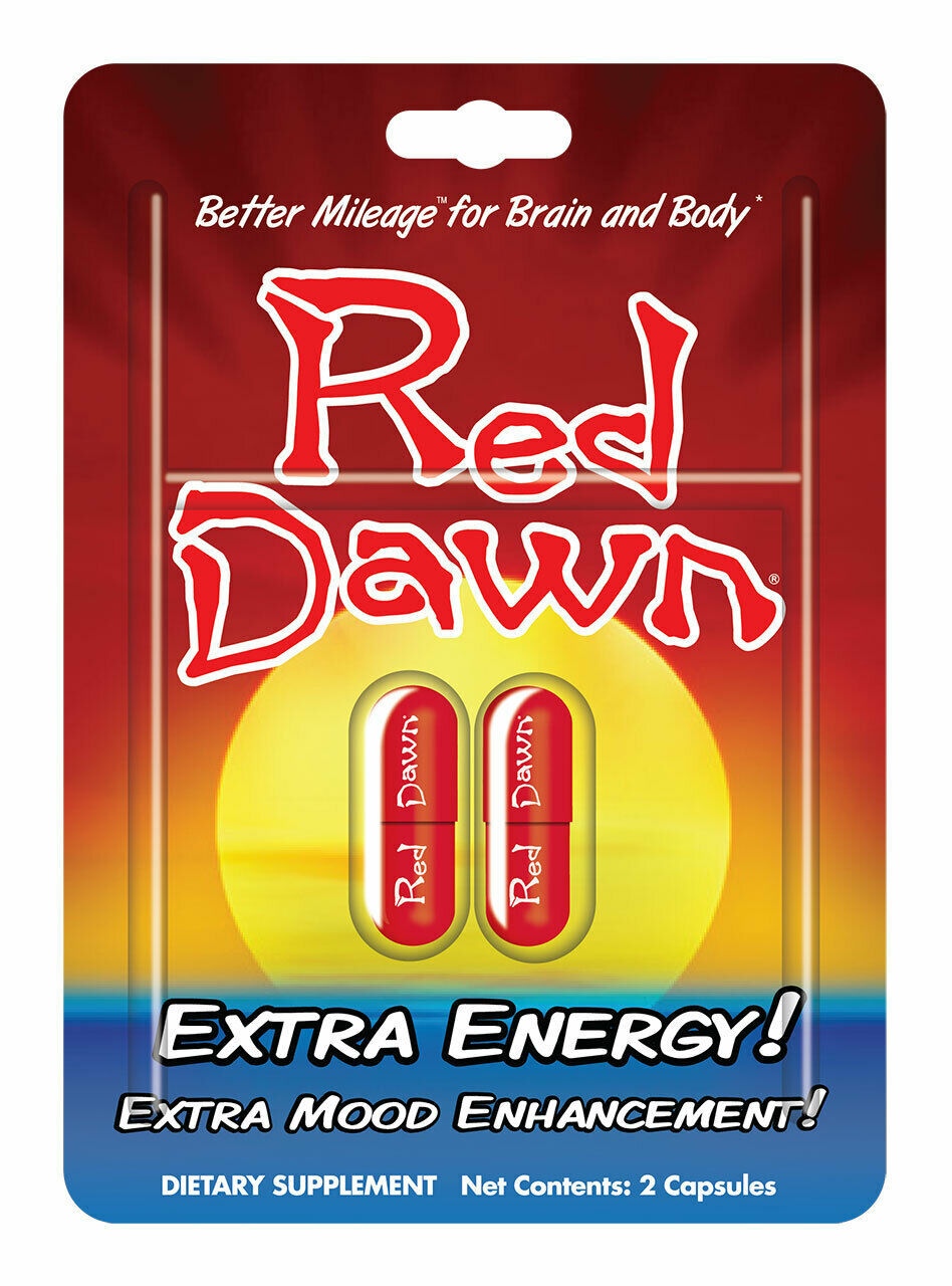Red Dawn Extra Energy  Capsules 2ct & 4ct