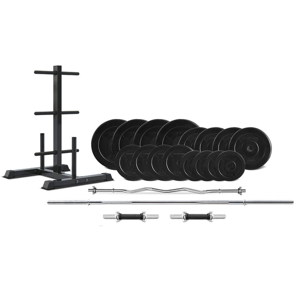 90kg Complete Weight Plate Package + Storage Tree