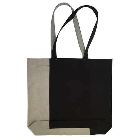 Twist Tote – Black/White/Grey - Place de Bleu