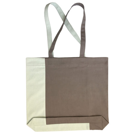 Twist Tote – Warm Grey/Mint - Place de Bleu