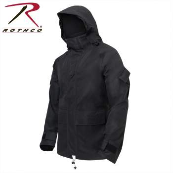 Rothco Tactical Hard Shell Waterproof HYVAT Jacket - Black