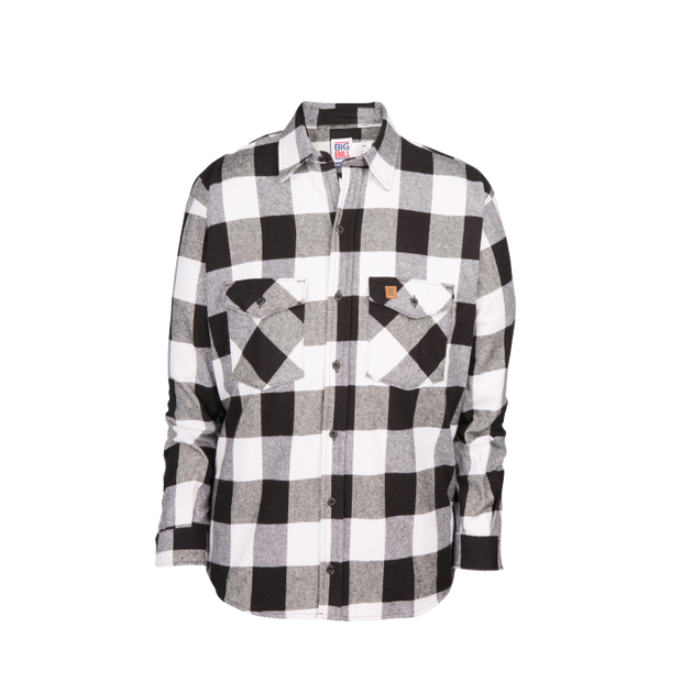 Women's Premium Flannel Work Shirt (White/Black)