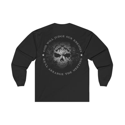 Men's Long Sleeve T-Shirt - God Will Judge Our Enemies We'll Arrange The Meeting