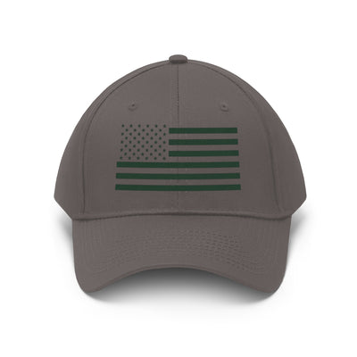 Military Green Flag on Black or Gray Unisex Twill Hat