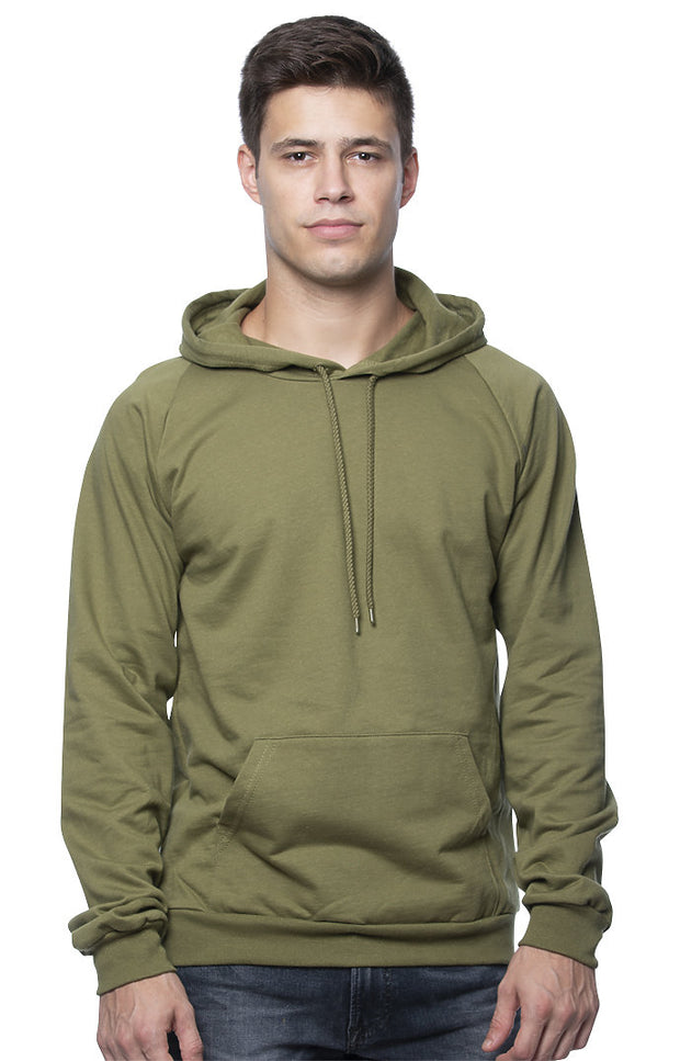 MEN'S ORGANIC COTTON PULLOVER HOODIE - BLACK FLAG (MADE IN THE USA)