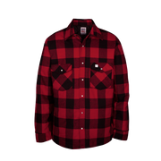 Men's Lined Premium Flannel Work Shirt (Made in the USA) Red/Black