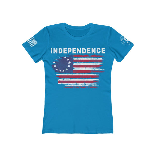 Women's Feminine Cut Tee - INDEPENDENCE BETSY ROSS FLAG