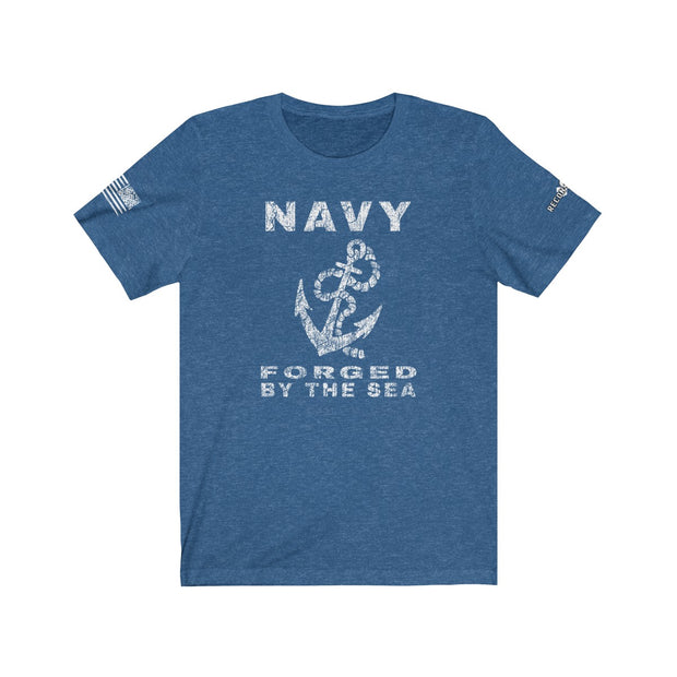 Men's & Women's T-Shirt - Navy - Forged By The Sea