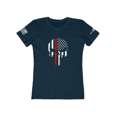 Women's Boyfriend Tee - Thin Red Line Punisher