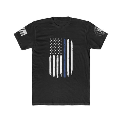 Men's T-Shirt - Thin Blue Line Flag